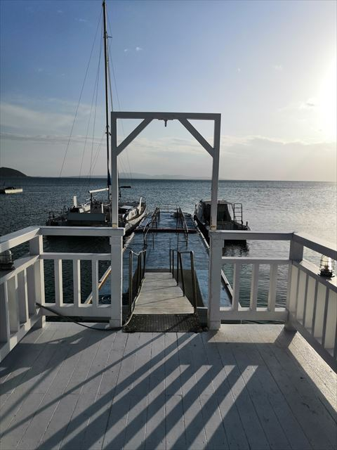 海側の桟橋