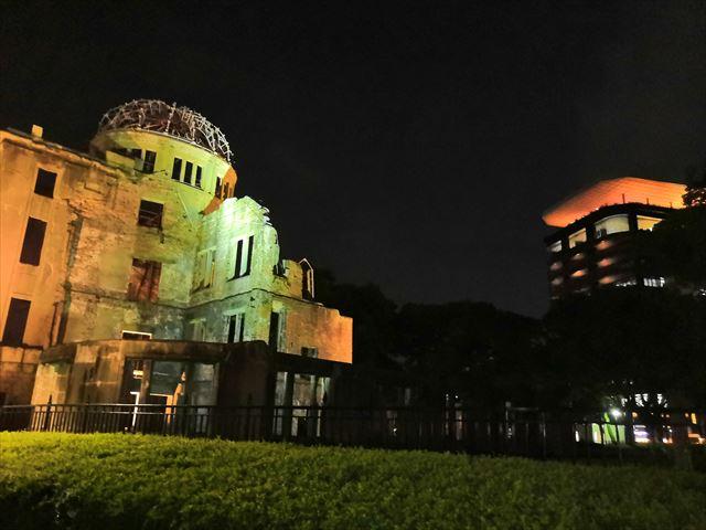 原爆ドームとおりづるタワー