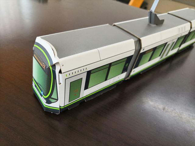 路面電車のペーパークラフト