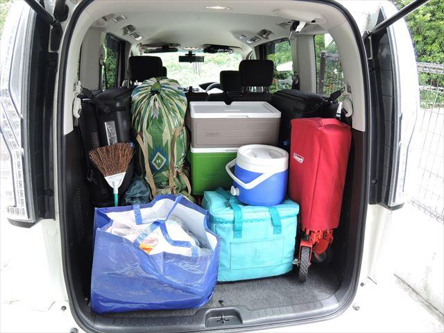 キャンプの荷物
