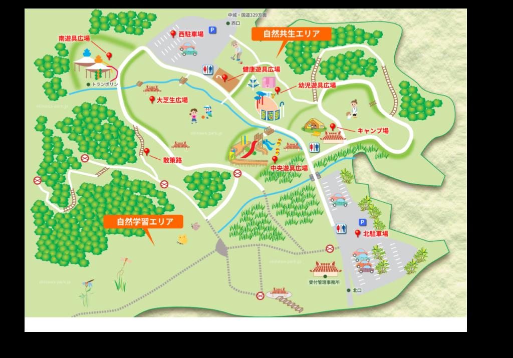 中城公園MAP