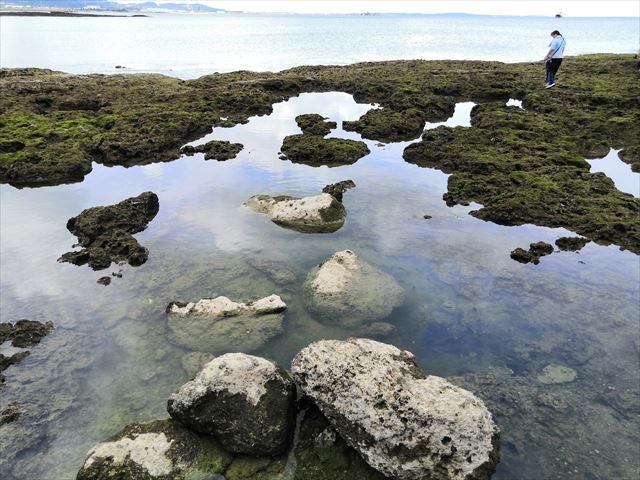 【沖縄ビーチ】与那原町板良敷のリーフで遊ぶ