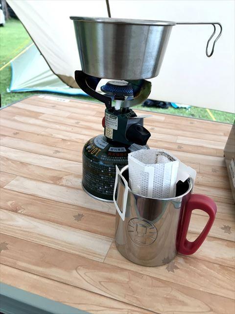 キャンプの楽しみ:モーニングコーヒー